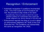 recognition enforcement