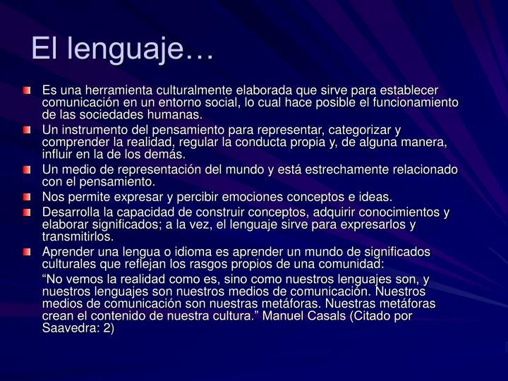 El lenguaje…