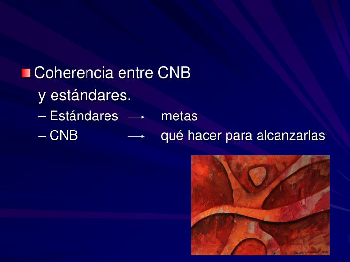 Coherencia entre CNB