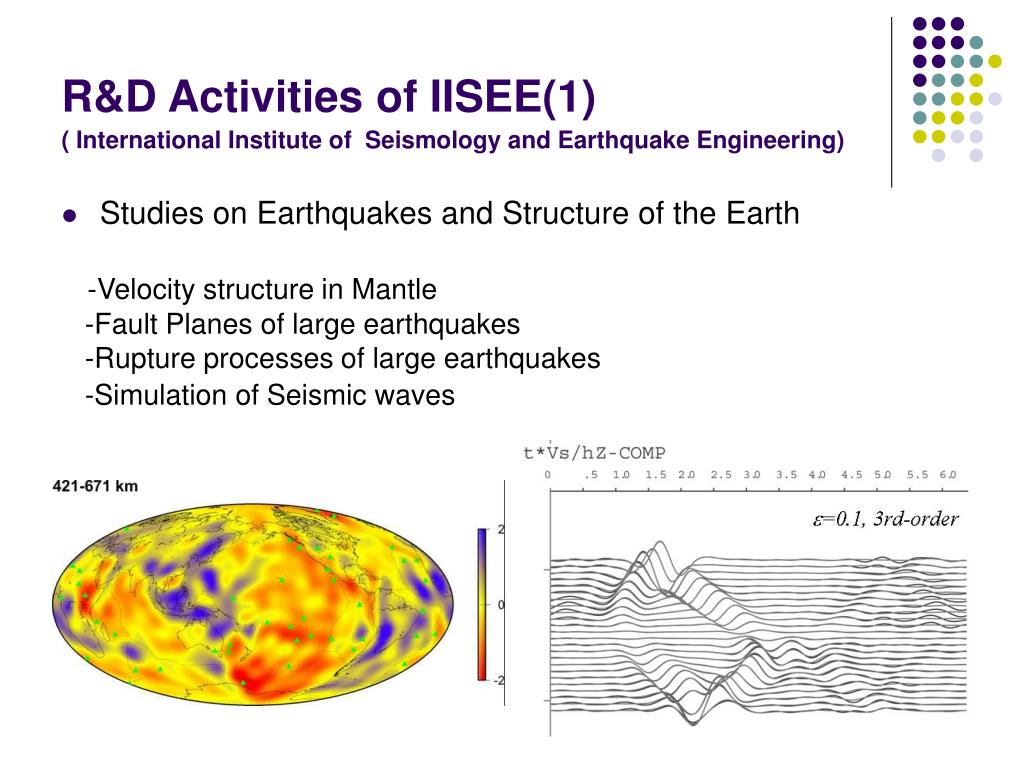 R&D Activities of IISEE(1)