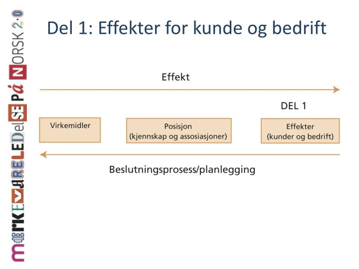 Del 1 effekter for kunde og bedrift