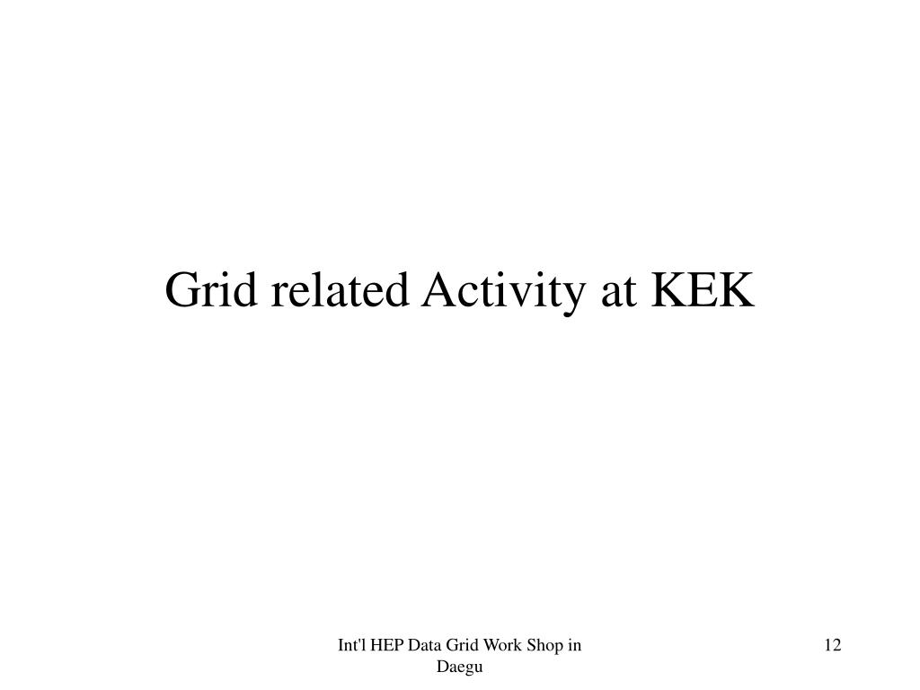 Grid related Activity at KEK