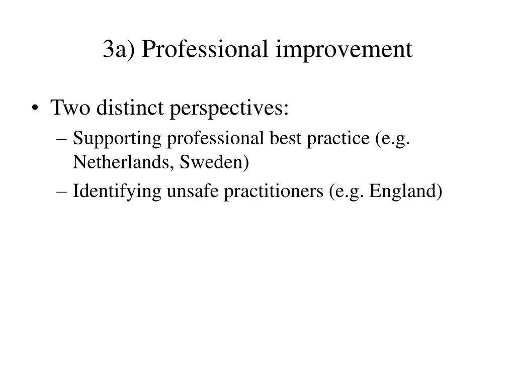 3a) Professional improvement