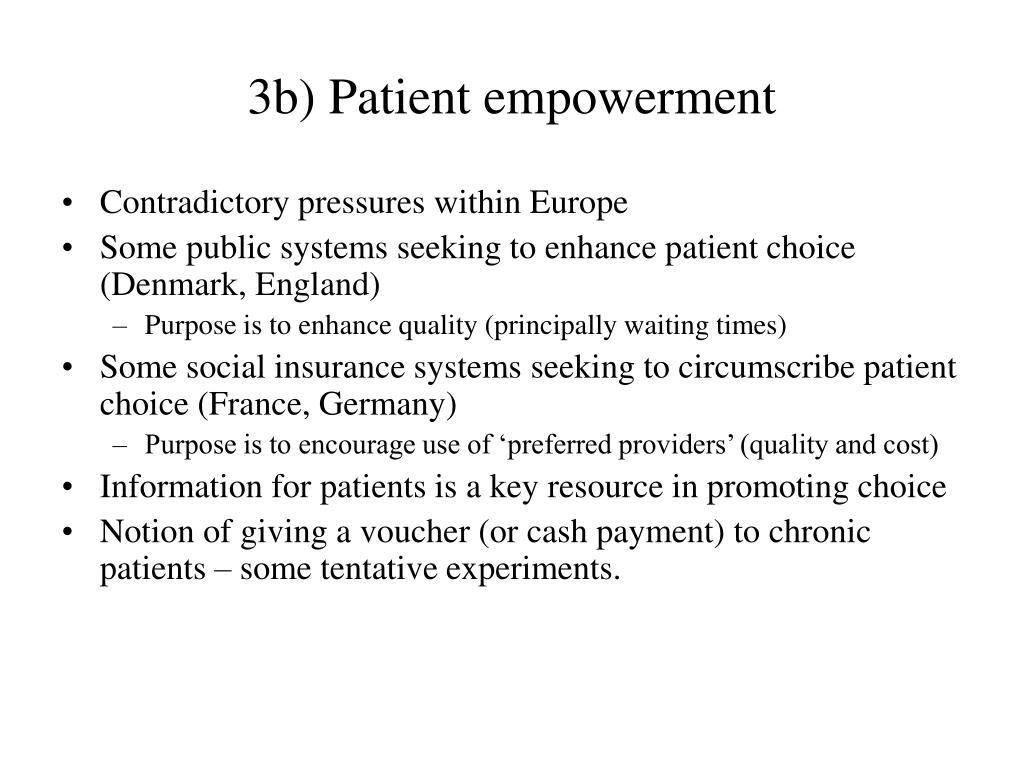 3b) Patient empowerment