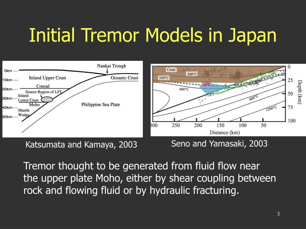 Initial Tremor Models in Japan