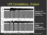 lfe correlations s wave