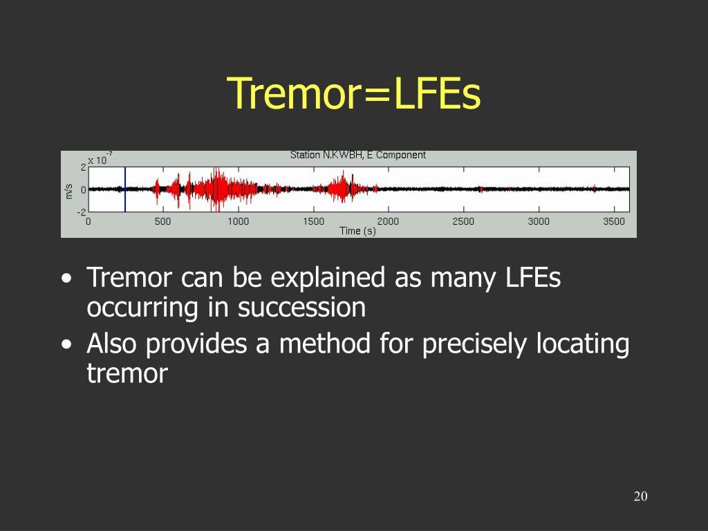 Tremor=LFEs