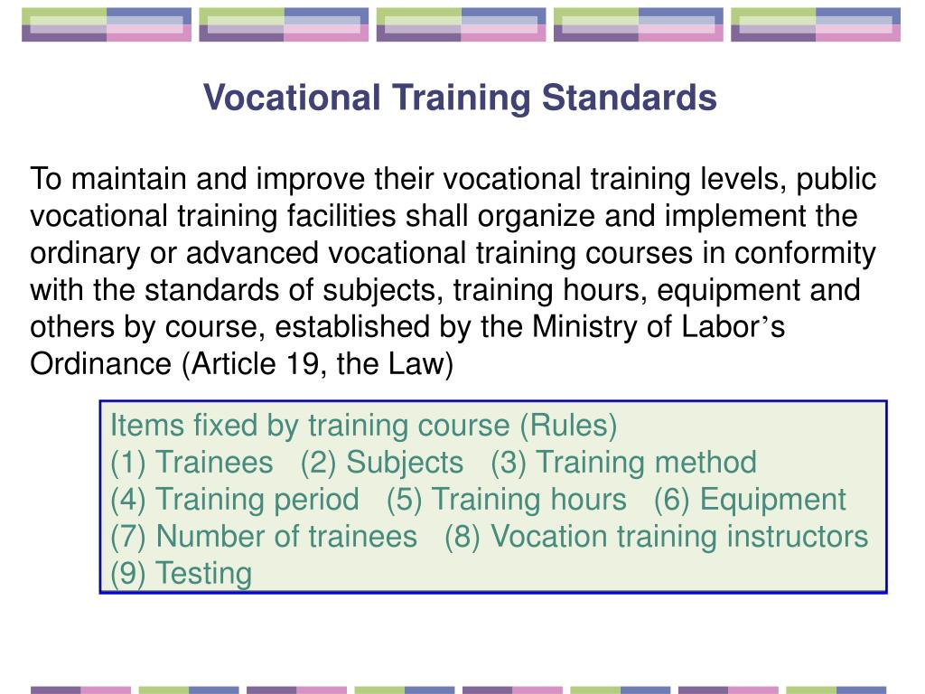Vocational Training Standards