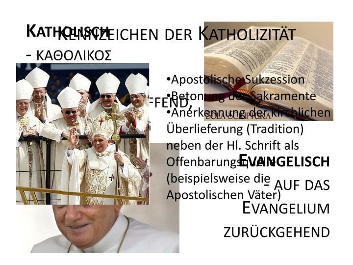 Kennzeichen der Katholizität