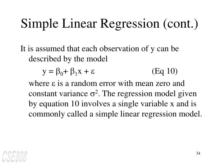 Simple Linear Regression (cont.)