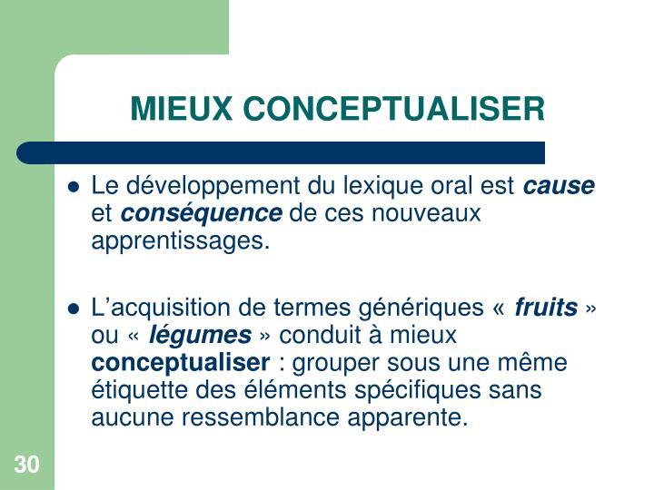 MIEUX CONCEPTUALISER