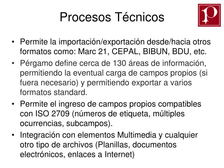 Procesos Técnicos