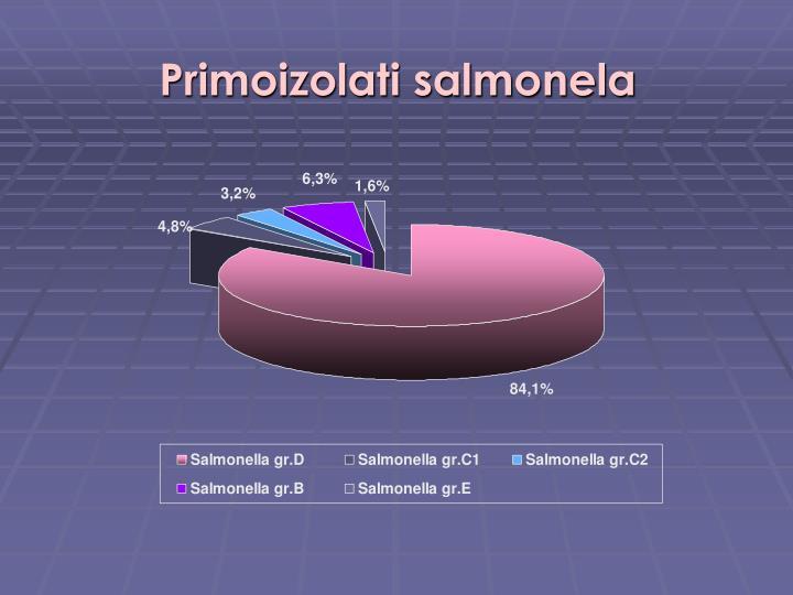 Primoizolati salmonela