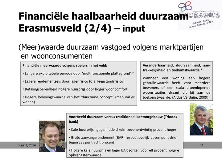Financiële haalbaarheid duurzaam Erasmusveld (2/4)