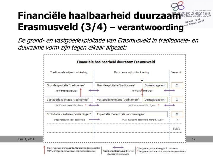 Financiële haalbaarheid duurzaam Erasmusveld (3/4)