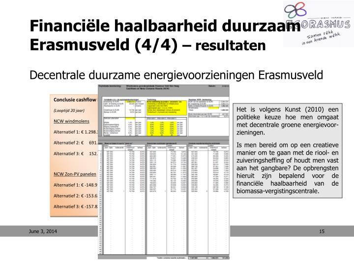 Conclusie cashflow berekeningen
