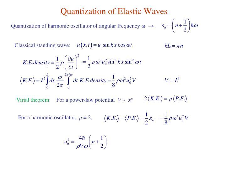 Quantization of Elastic Waves