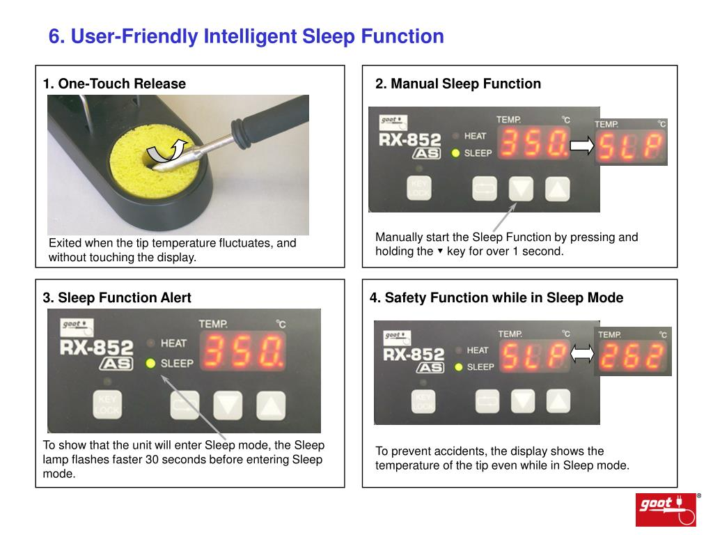 6. User-Friendly Intelligent Sleep Function