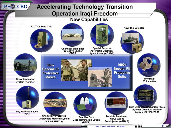 Accelerating technology transition operation iraqi freedom