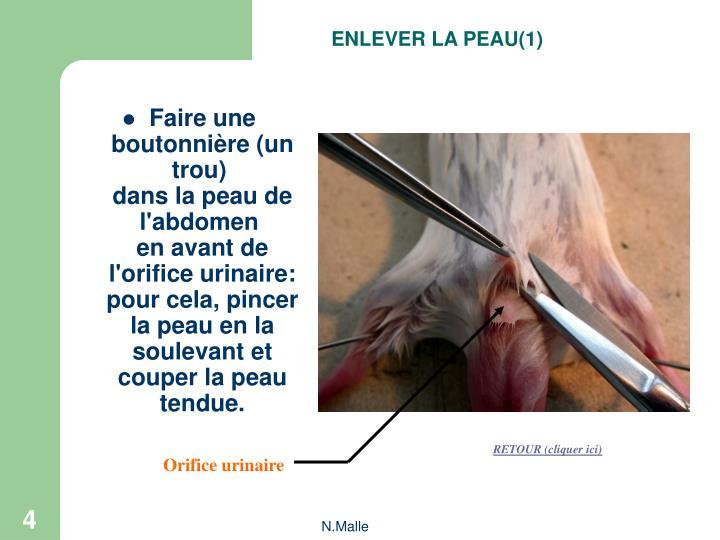 ENLEVER LA PEAU(1)