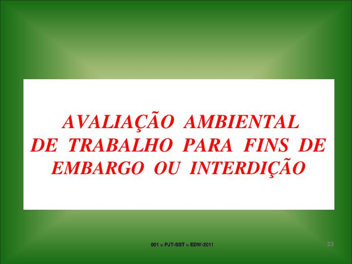 AVALIAÇÃO  AMBIENTAL