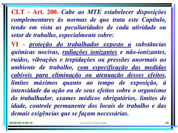 CLT - Art. 200.