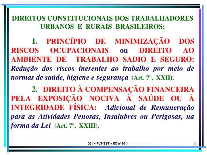 direitos constitucionais dos trabalhadores urbanos  e  rurais  brasileiros: