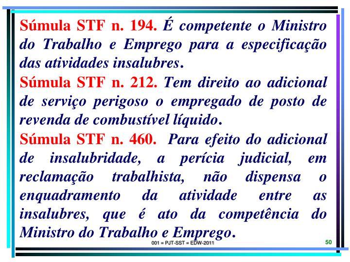 Súmula STF n. 194.