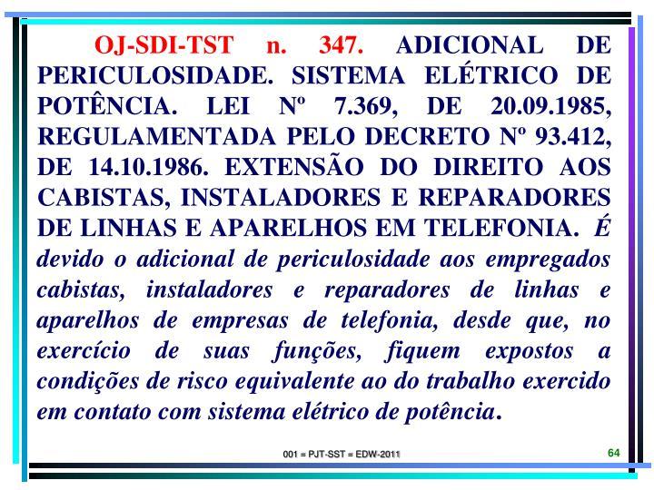 OJ-SDI-TST n. 347.