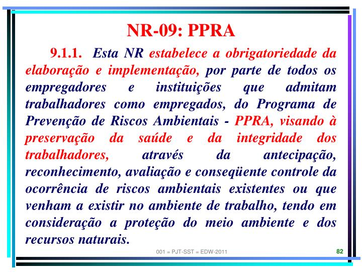 NR-09: PPRA