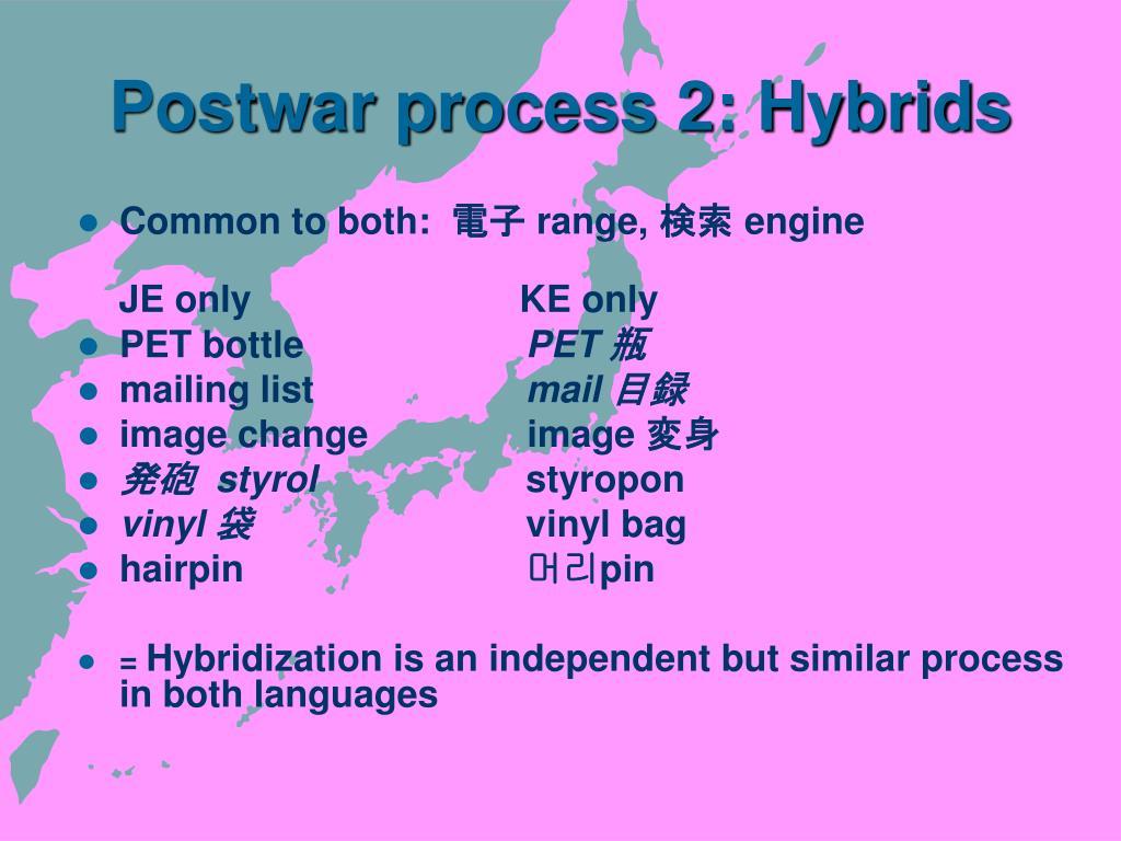 Postwar process 2: Hybrids