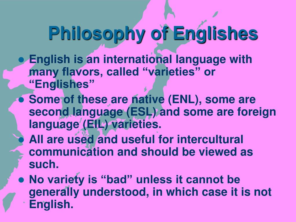 Philosophy of Englishes