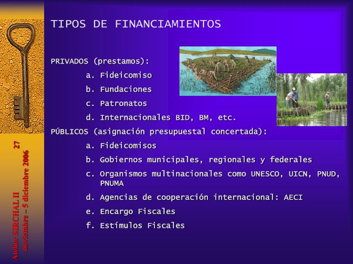 TIPOS DE FINANCIAMIENTOS