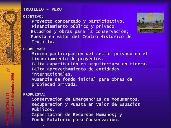 TRUJILLO - PERU