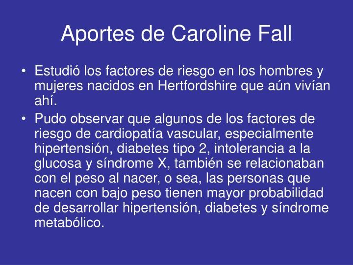 Aportes de Caroline Fall