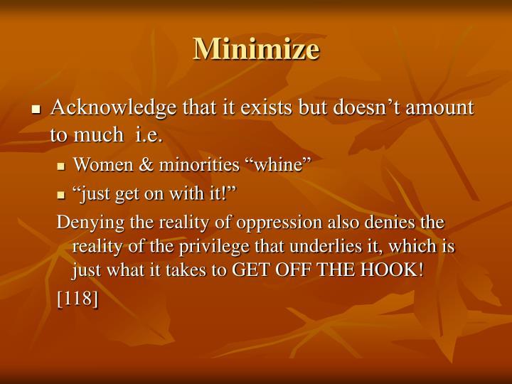 Minimize