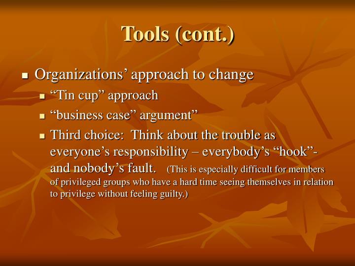 Tools (cont.)