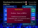distributed environment ga dega