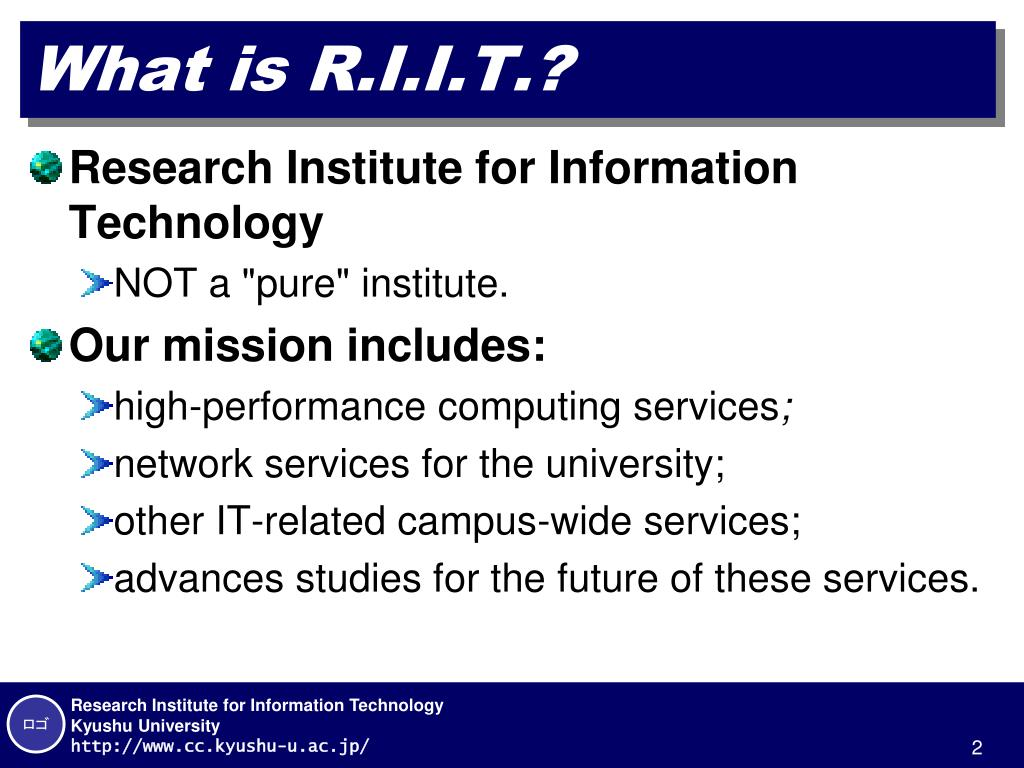 What is R.I.I.T.?