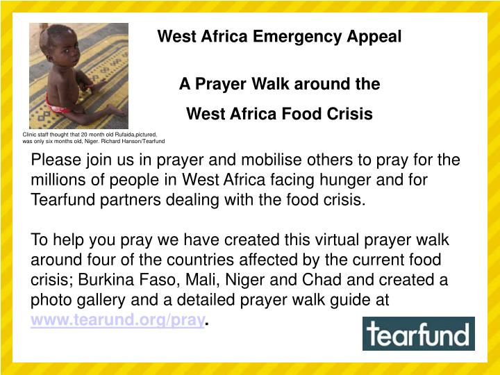 West Africa Emergency Appeal