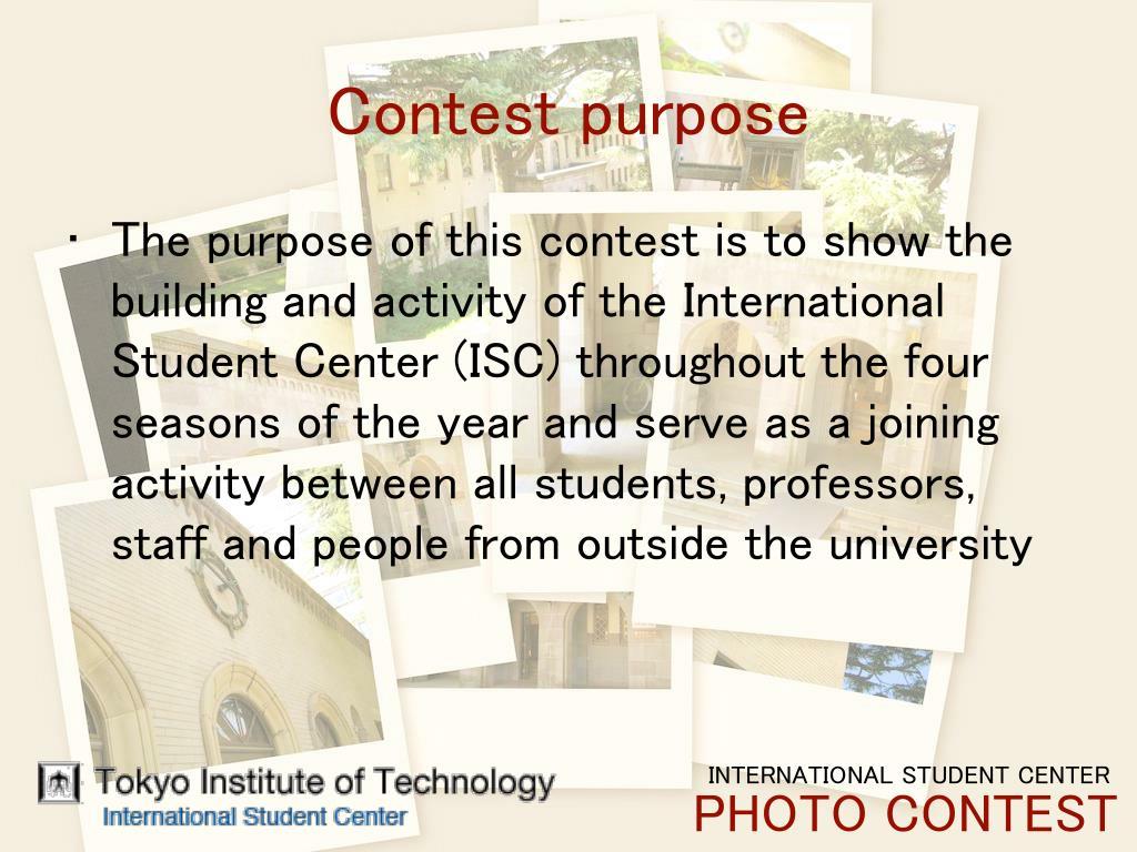 Contest purpose