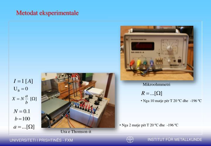 Metodat eksperimentale