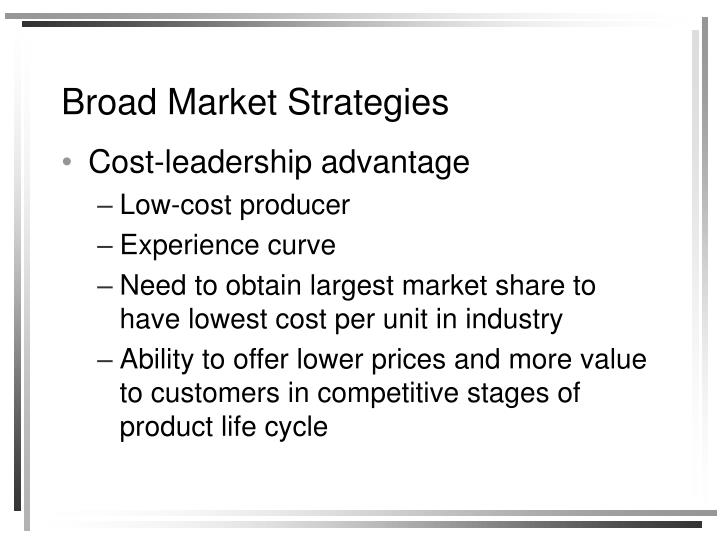 Broad Market Strategies