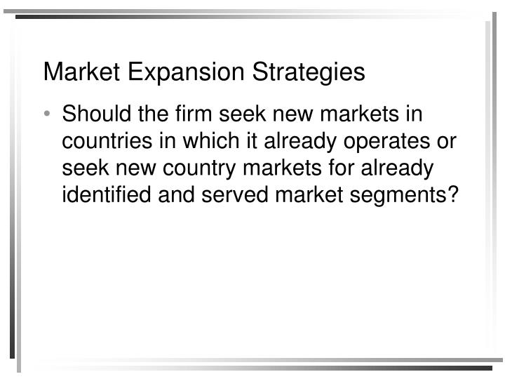 Market Expansion Strategies