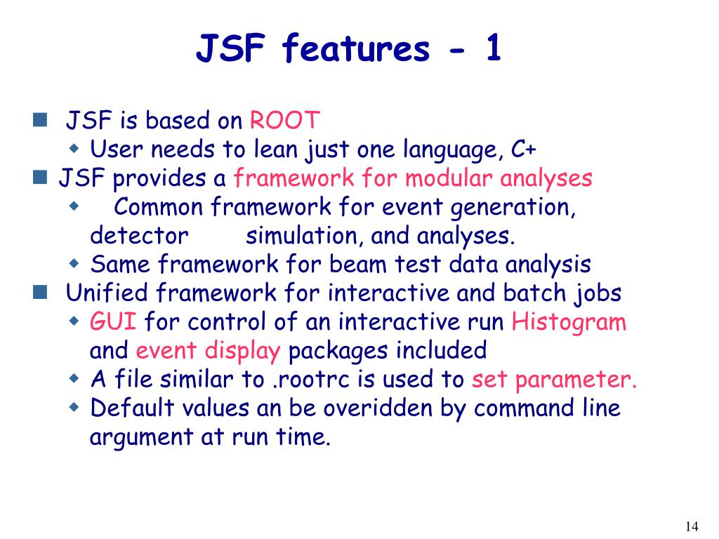 JSF features - 1