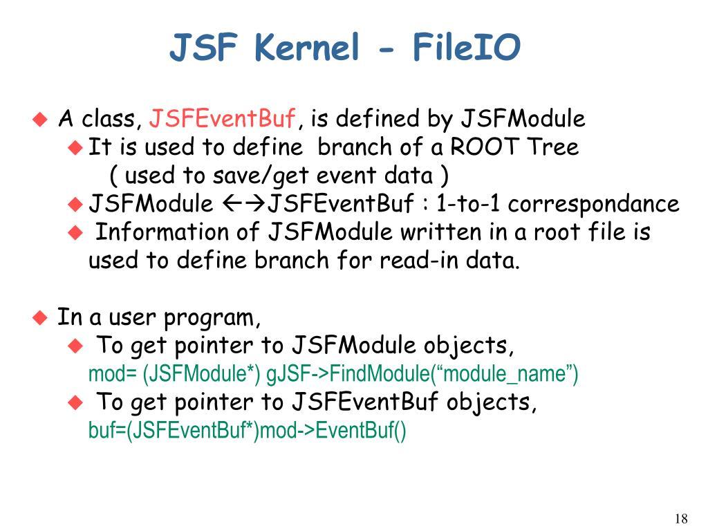 JSF Kernel - FileIO