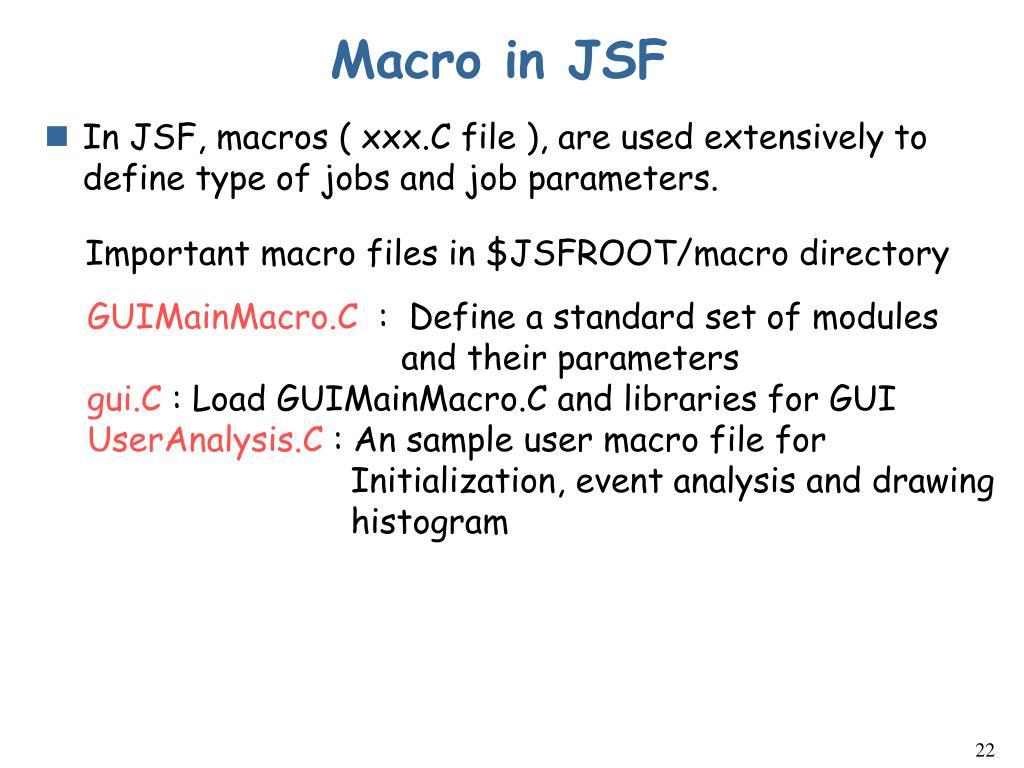 Macro in JSF