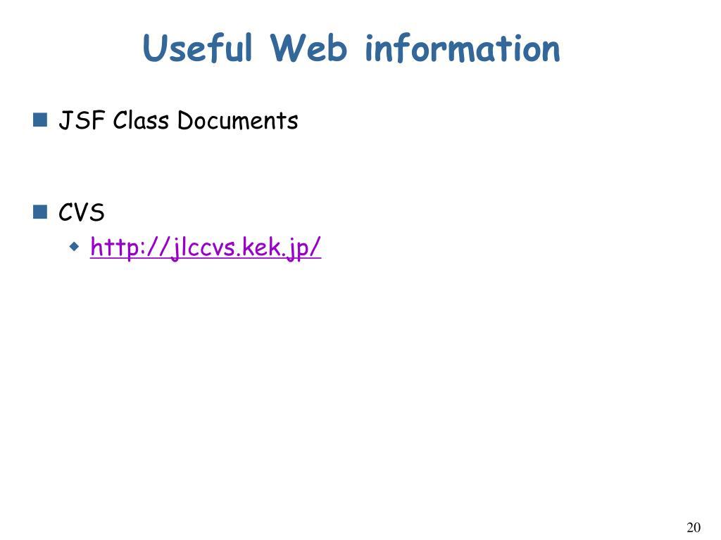 Useful Web information