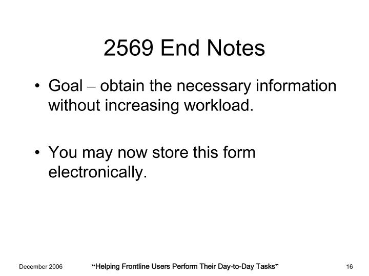 2569 End Notes