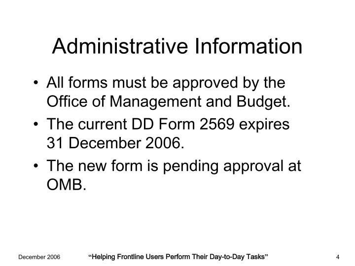 Administrative Information